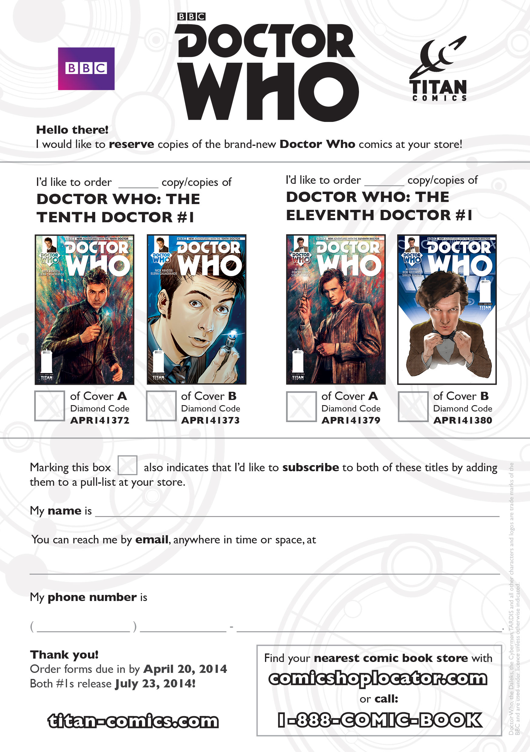 PRE ORDERS NOW OPEN FOR DOCTOR WHO COMICS @ an Comics on pre order food, pre order symbol, pre order process, contact form, pre order unity, pre order design, pre order button, pre order menu, pre order code, clothing form,